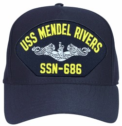 USS L. Mendel Rivers SSN-686 ( Silver Dolphins ) Submarine Enlisted Cap