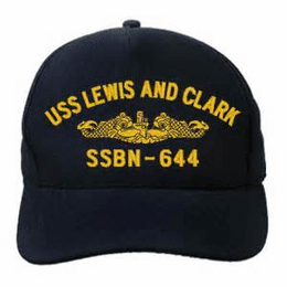 USS Lewis and Clark SSBN-644 (Gold Dolphins) Custom Embroidered Cap
