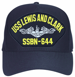 USS Lewis and Clark SSBN-644 ( Silver Dolphins ) Submarine Enlisted Cap