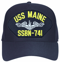 USS Maine SSBN-741  ( Silver Dolphins ) Submarine Enlisted Cap
