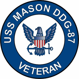 USS Mason DDG-87 Veteran Decal Sticker