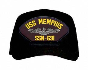 USS Memphis SSN-691 ( Silver Dolphins ) Submarine Enlisted Cap