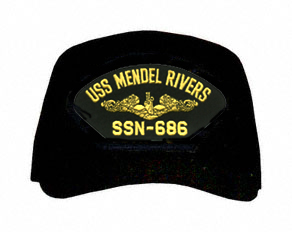 USS Mendel Rivers SSN-686 ( Gold Dolphins ) Submarine Officers Cap