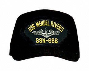 USS Mendel Rivers SSN-686 ( Silver Dolphins ) Submarine Custom Embroidered Enlisted Cap