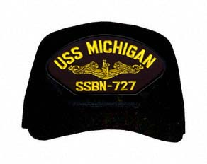 USS Michigan SSBN-727 ( Gold Dolphins ) Submarine Officer Direct Embroidered Cap