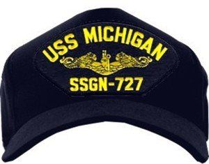 USS Michigan SSGN-727 Gold Dolphin Custom Embroidered Ball Cap