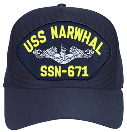 USS Narwhal SSN-671 ( Silver Dolphins ) Submarine Enlisted Cap