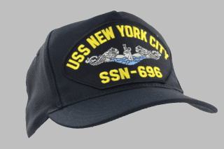 USS NEW YORK CITY SSN-692(BLUEWATER) MILITARY CAP