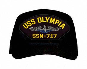 USS Olympia SSN-717 Blue Water ( Silver Dolphins ) Submarine Enlisted Cap