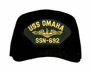 USS Omaha SSN-692 ( Gold Dolphins ) Submarine Officer Direct Embroidered Cap