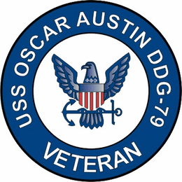 USS Oscar Austin DDG-79 Veteran Decal Sticker