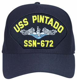 USS Pintado SSN-672 Blue Water ( Silver Dolphins ) Submarine Enlisted Cap