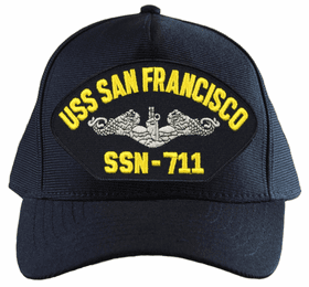 USS San Francisco SSN-711 ( Silver Dolphins ) Submarine Enlisted Cap