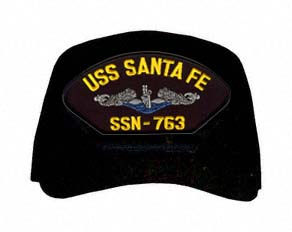 USS Santa Fe SSN-763 Blue Water ( Silver Dolphins ) Submarine Enlisted Cap