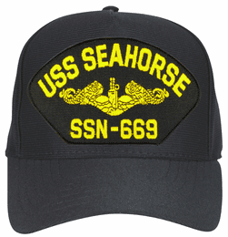 USS Seahorse SSN-669 ( Gold Dolphins ) Submarine Officer Cap