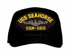 USS Seahorse SSN-669 ( Silver Dolphins ) Submarine Direct Embroidered Cap