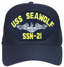 USS Seawolf SSN-21 ( Silver Dolphins ) Submarine Enlisted Cap
