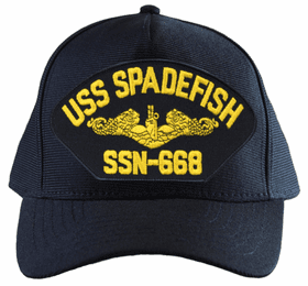 USS Spadefish SSN-668 ( Gold Dolphins ) Submarine Officer Cap