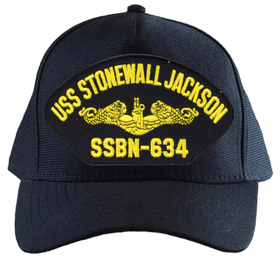 USS Stonewall Jackson SSBN-634 ( Gold Dolphins ) Submarine Officers Custom Embroidered Cap