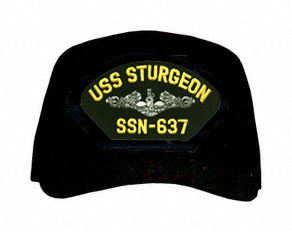 USS Sturgeon SSN-637  ( Silver Dolphins ) Submarine Enlisted Custom Embroidered Cap