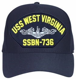 USS West Virginia SSBN-736 ( Silver Dolphins ) Submarine Enlisted Cap