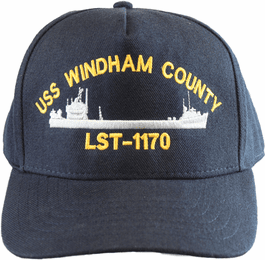 USS Windham County LST-1170 Direct Embroidered Cap