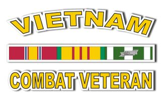 Vietnam Combat Veteran Window Decal Sticker