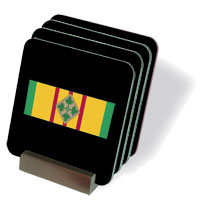 Vietnam Ribbon with 4th Infantry Coasters - Set of 4