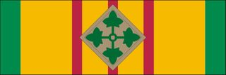 Vietnam Ribbon with 4th Infantry Decal Sticker