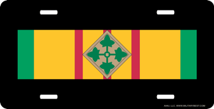 Vietnam Ribbon with 4th Infantry License Plate