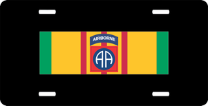 Vietnam Ribbon with 82nd Airborne License Plate