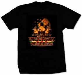 Vietnam Veteran Black T-Shirt