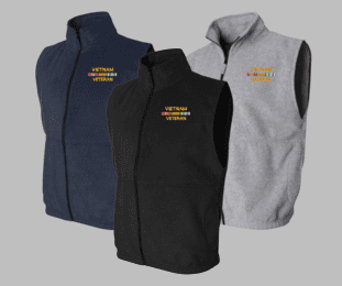 Vietnam Veteran Sierra Pacific Full-Zip Fleece Vest