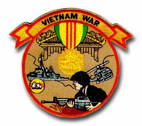 "VIETNAM WAR 4½"" PATCH"