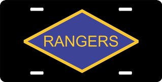 World War II Ranger Tab Window License Plate