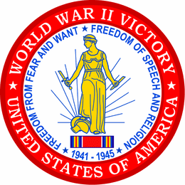 """World War II Victory Medal 4"""" Patch"""