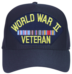 WW II European Veteran with Ribbons Ball Cap
