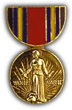 WWII Victory Medal Hat Pin