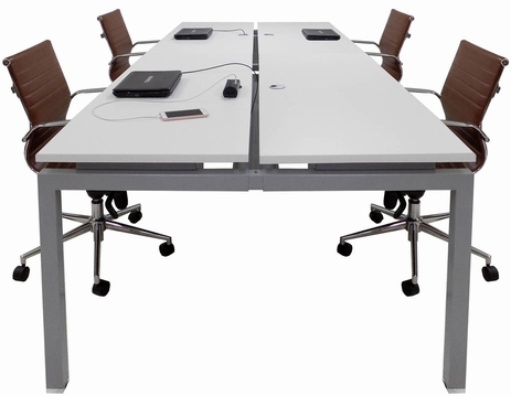 10' Technology Table w/Four 60� x 24� Worksurfaces