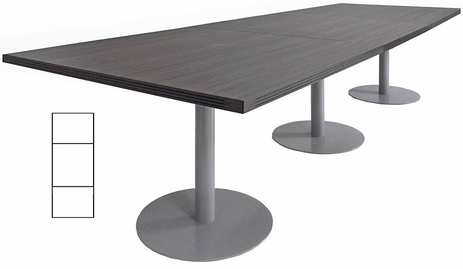 10' x 4' Rectangular Disc Base Conference Table