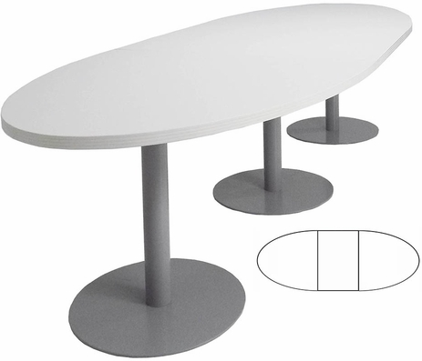 11' x 4' Oval Disc Base Conference Table