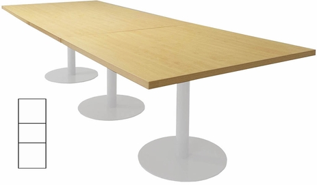 11' x 4' Rectangular Disc Base Conference Table