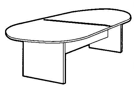 12' Cherry Laminate Conference Table