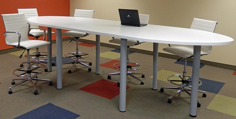 12' Oval Standing Height Conference Table