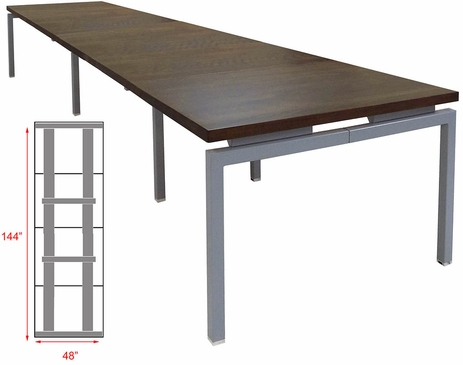 12' Solid Wood Parsons Leg Conference Table