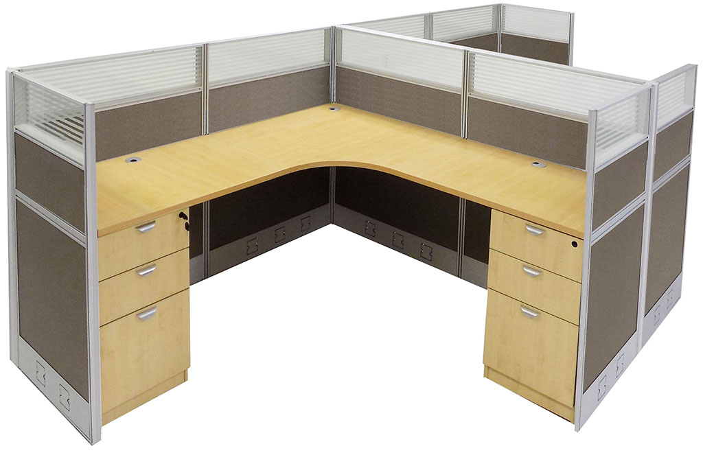 2 Person L Shaped Office