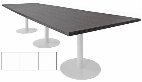 12' x 4' Rectangular Disc Base Conference Table
