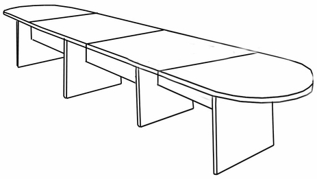 16′ Maple Laminate Conference Table