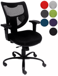 24/7 400 lbs. Capacity Multi-Function Mesh Chair w/Adjustable Sliding Seat Depth