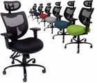 24/7 400 lbs. Capacity Multi-Function Mesh Chair w/Adjustable Sliding Seat Depth & Headrest